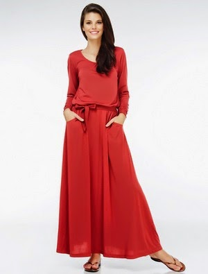 Mancfaat Long Dress dan Belt