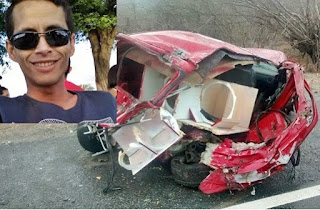 Jovem que morou por muitos anos em Nova Palmeira sofre gravíssimo acidente perto de Soledade