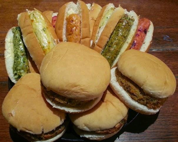 Goodlife vegetarian sausages and burgers banquet