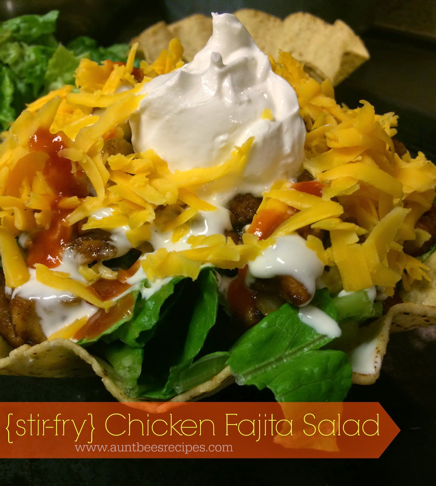 {stir fry} Chicken Fajita Salads