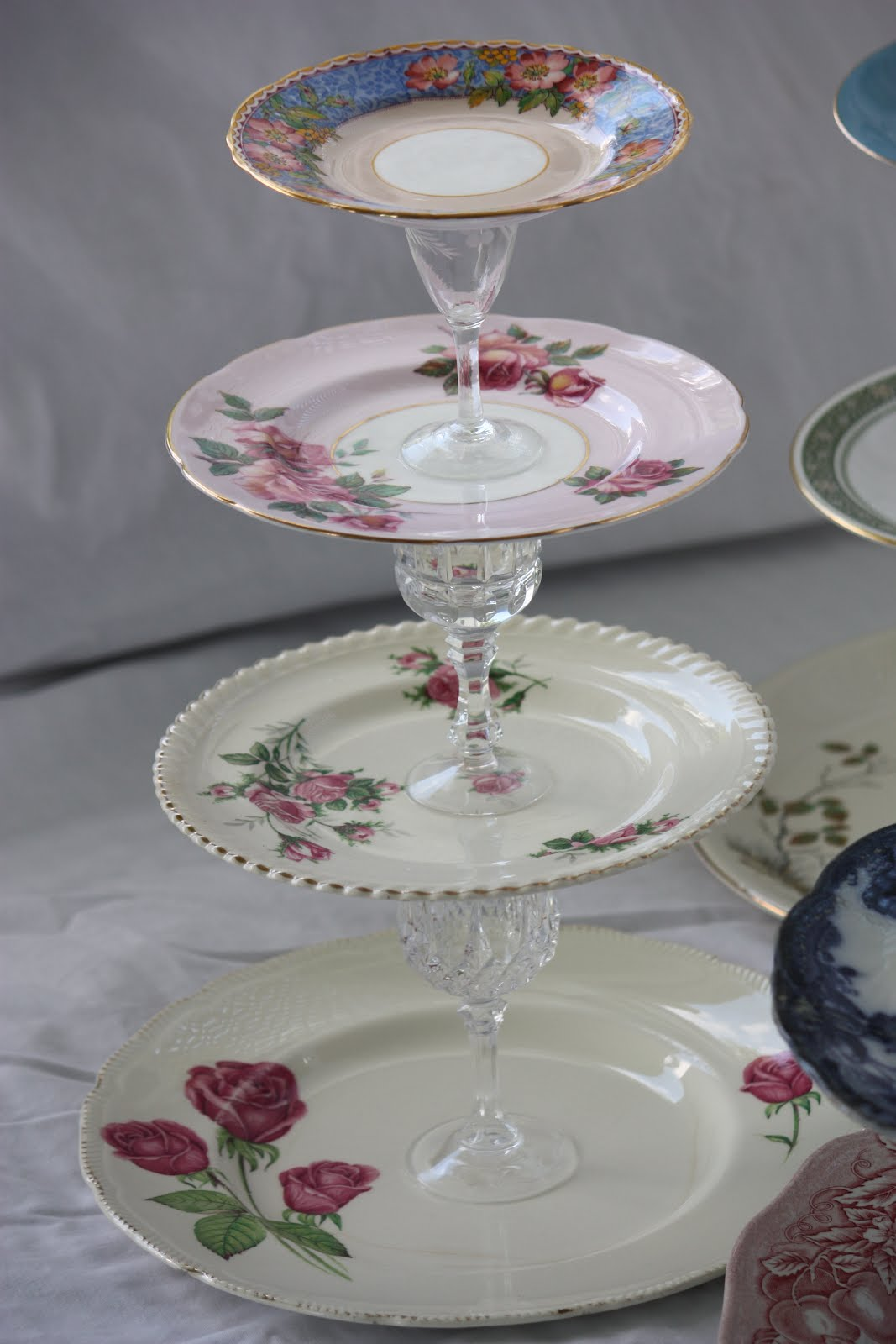 Project 6 Vintage Tiered Cake Stands & Crafty Friday: Project 6: Vintage Tiered Cake Stands