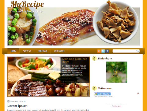 My Recipe Blogger Theme