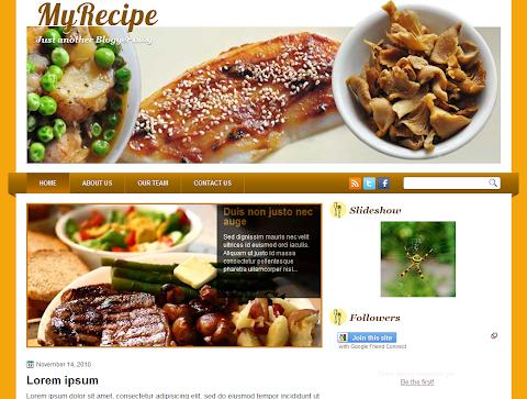My Recipe Blogger Theme