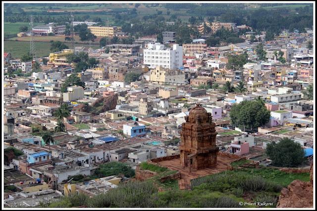 Lower Shivalaya and Badami view from Upper Shivalaya, Badami