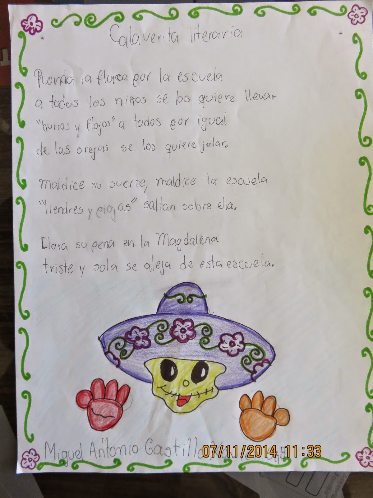 Concurso de calaveras literarias escuela primaria for Concurso para maestros
