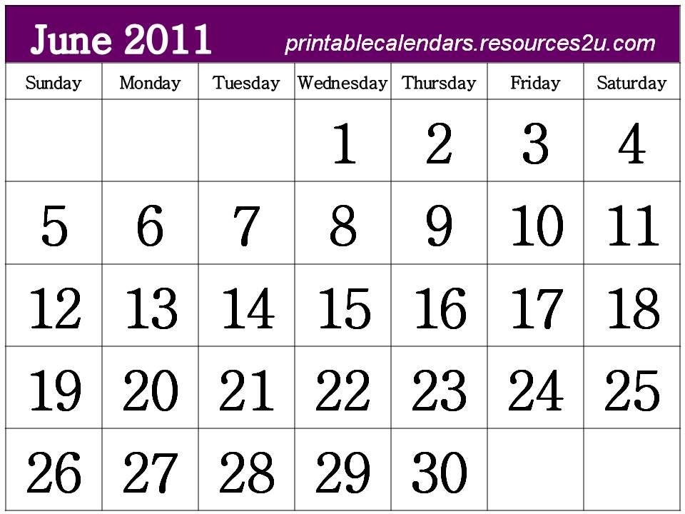 june 2011 calendar printable free. june 2011 calendar printable.