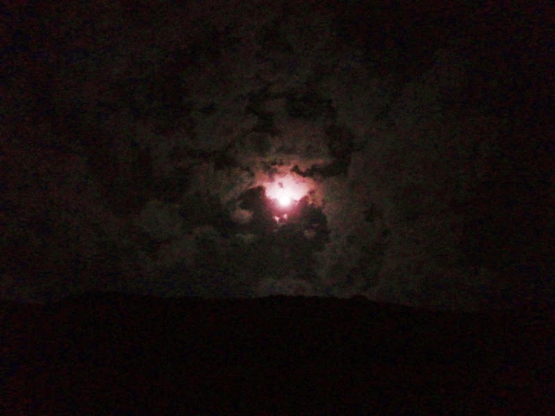 A red moon in the night skies on Alang