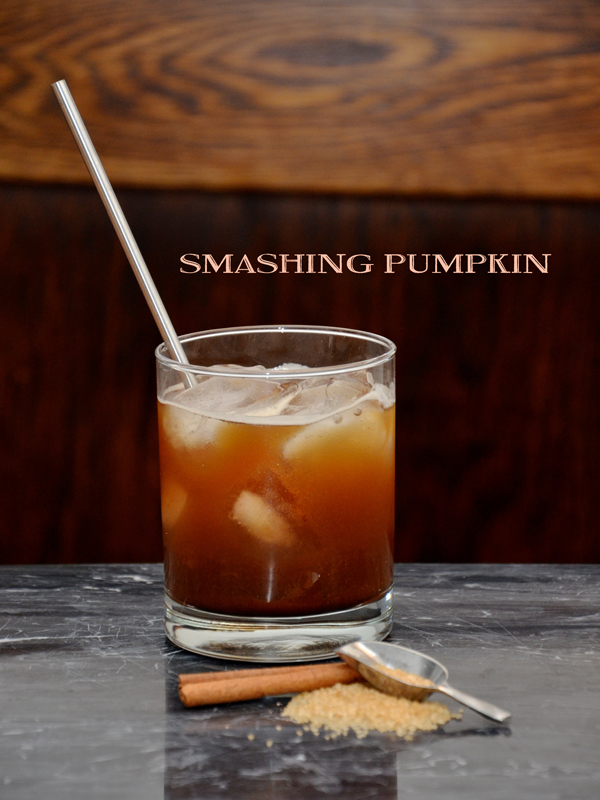 smashing pumpkin | a bourbon pumpkin cocktail recipe