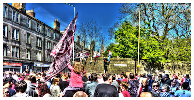 Hearts Victory Parade Scottish Cup 2012