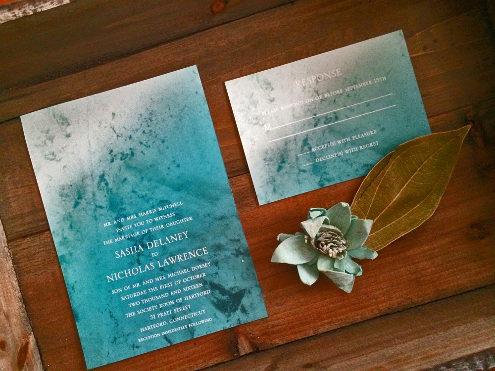 Modern Ombre Leila Invite by Creative Montage