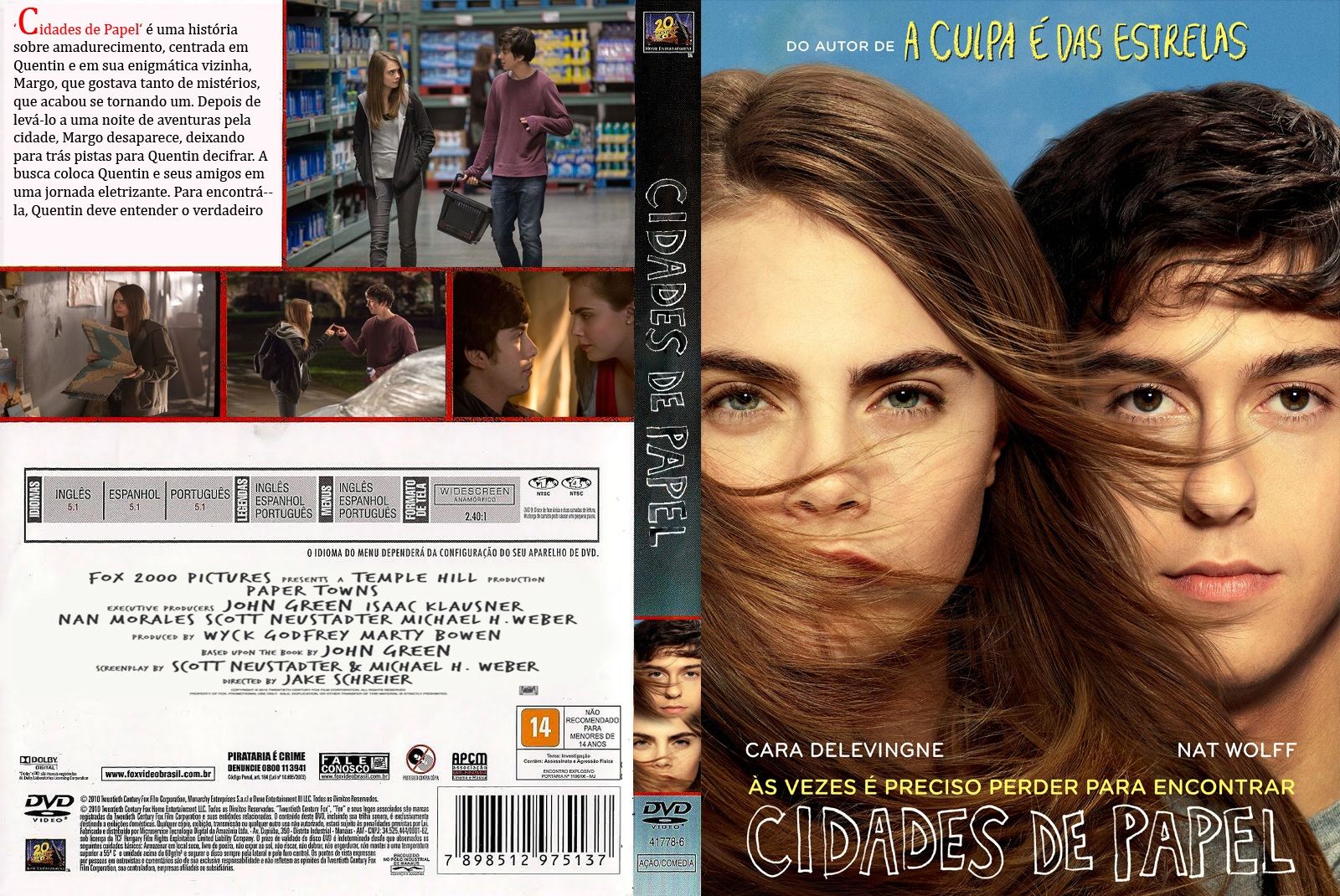 Download Cidades de Papel BDRip XviD Dual Áudio Cidades de Papel