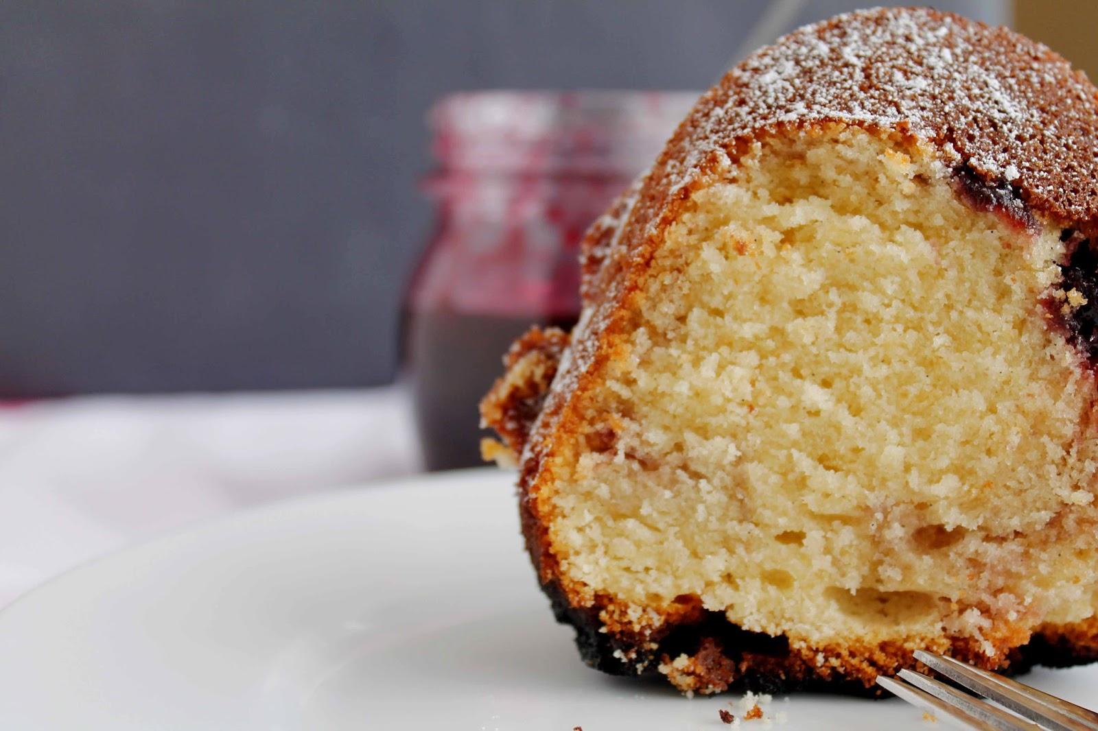 Receta Butter & Jam Bundt cake o Bundt cake de cerezas