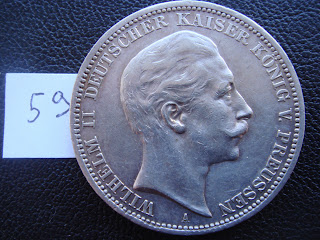 Germany Prussia 1908 3 MARK A silver coin Wilhelm II Nice coin LOOK (59)