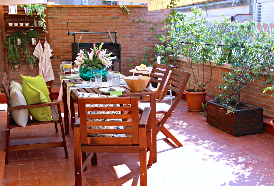 Mobiliario terraza ikea muebles para espacios reducidos for Muebles terraza barcelona