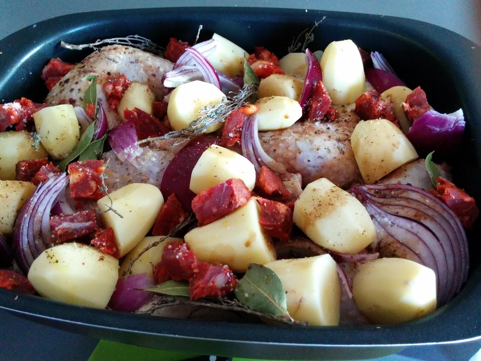Une Perruche En Cuisine Poulet Au Chorizo Au Four