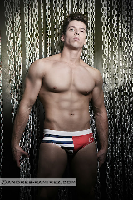 Abraham Arasa in NIT swimwear - Andres Ramirez