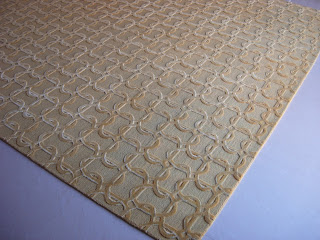 sahrai wool and silk relief rug