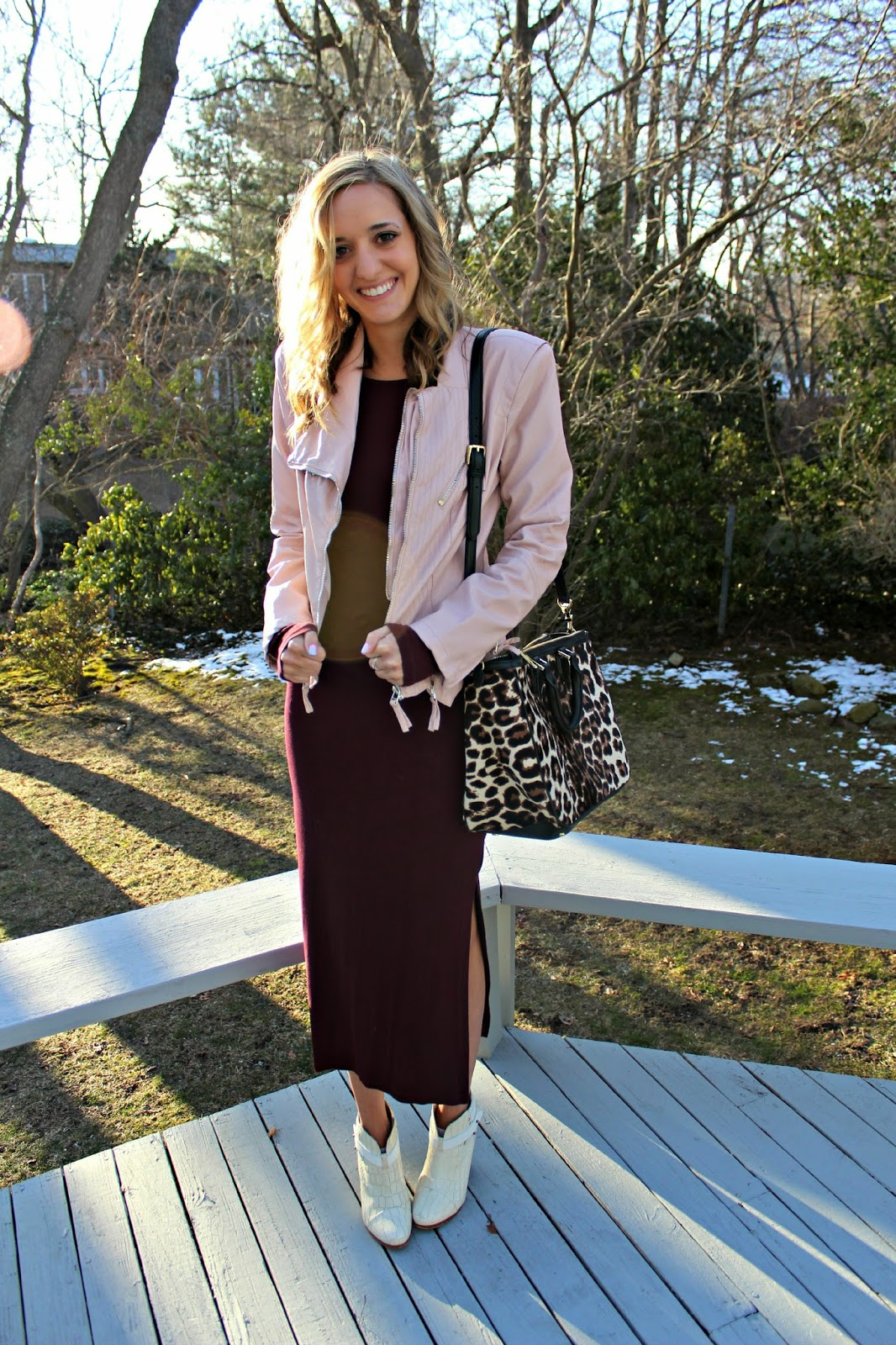 transitional spring outfit