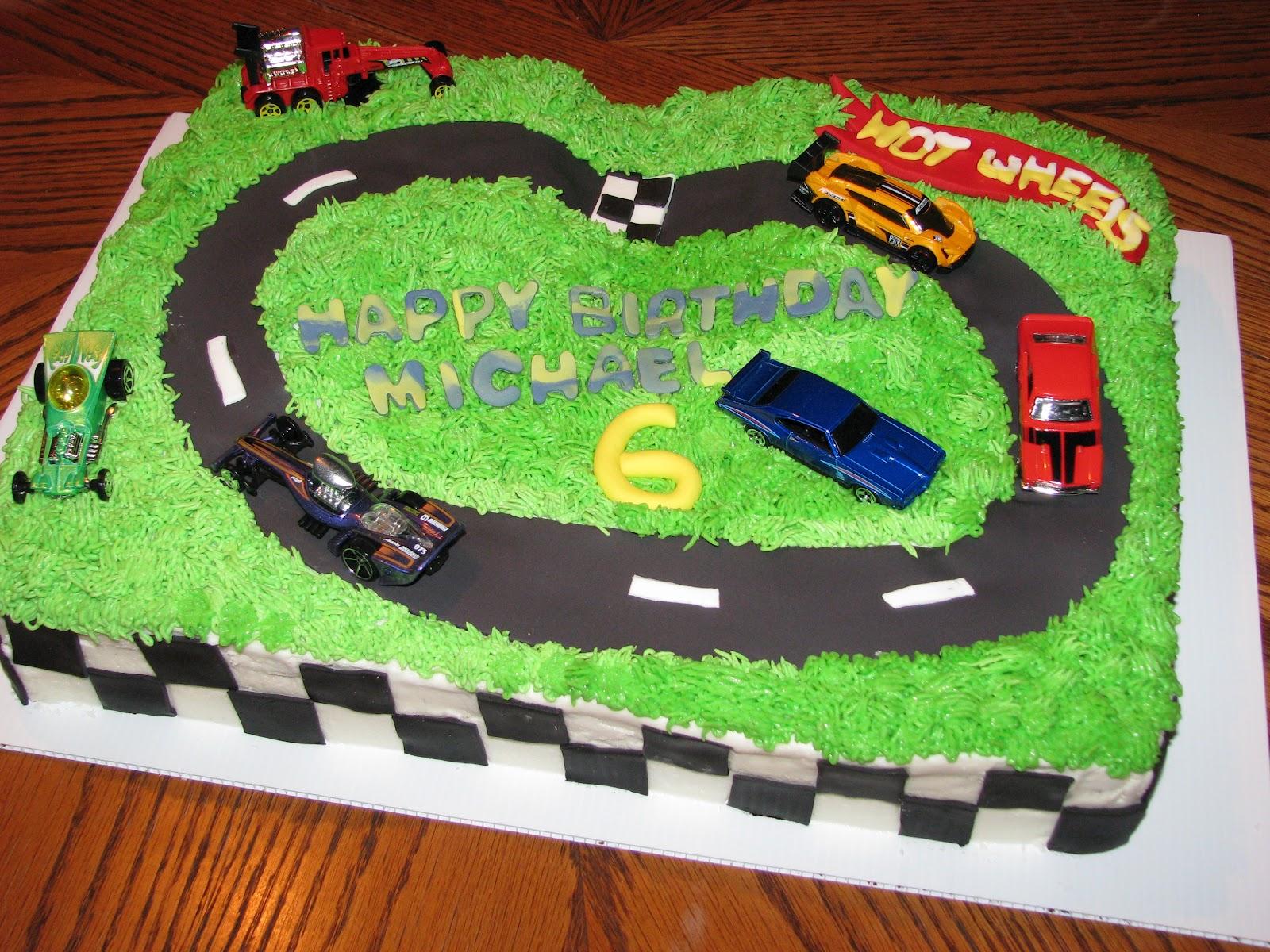 Bake Me A Cake Hot Wheels Birthday Cake