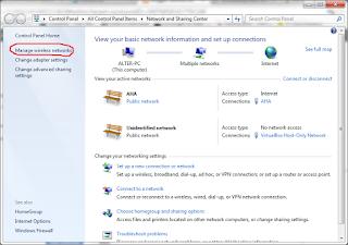 Cari nama access point yang anda ingin lihat passwordnya - klik kanan ...