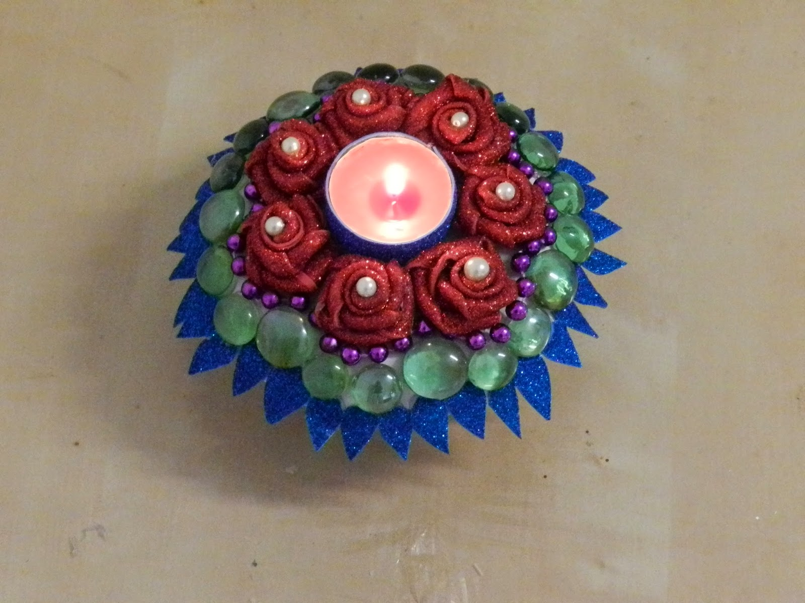 Beautiful Candle Decoration With Paper Plate And Foam Sheets
