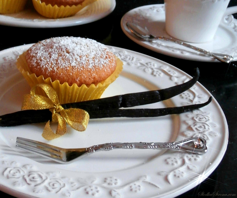 Muffinki/Babeczki Waniliowe - Przepis - Słodka Strona