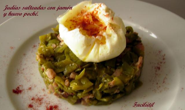 judias-verdes.salteadas-con-jamón-y-huevo-poché