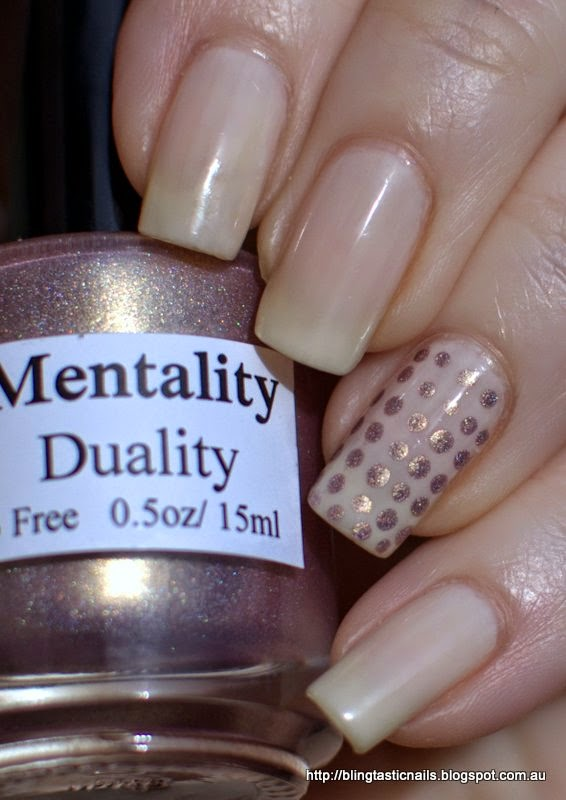 Orly Pink Nude and Mentality Duality Dots