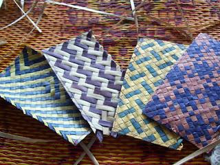 Seni kerajinan anyaman , kerajinan ini biasanya menggunakan bahan ...