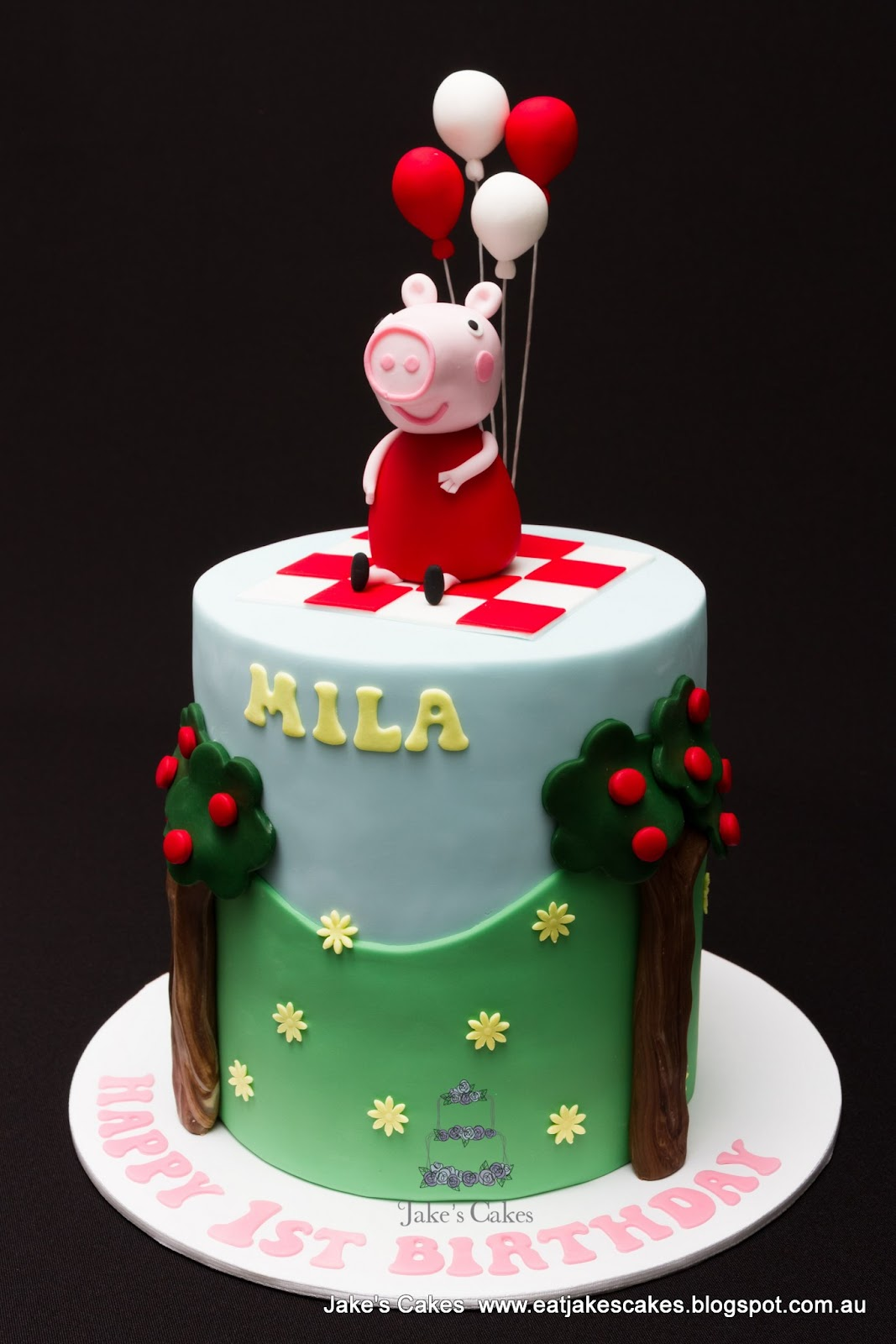 Jakes Cakes Peppa Pig First Birthday Cake