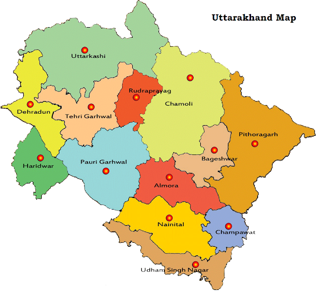 Uttarakhand-map-district-maps