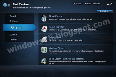 Advanced SystemCare onarım, windows onarım