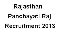 Rajasthan Panchayati Raj 4913 Jobs 2013 Notification
