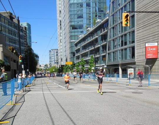 Last dash Vancouver Marathon Finish Line
