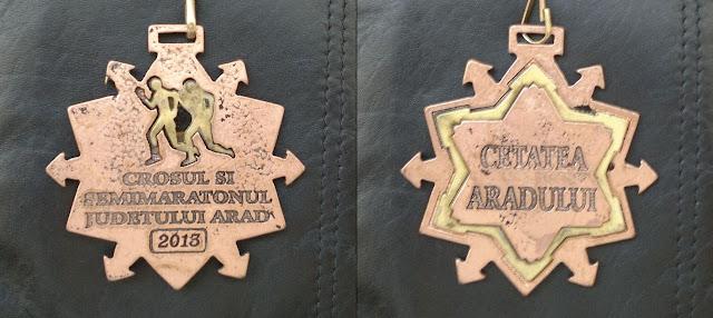 CROSUL ŞI SEMIMARATONUL JUDEŢULUI ARAD 2013 Medalie