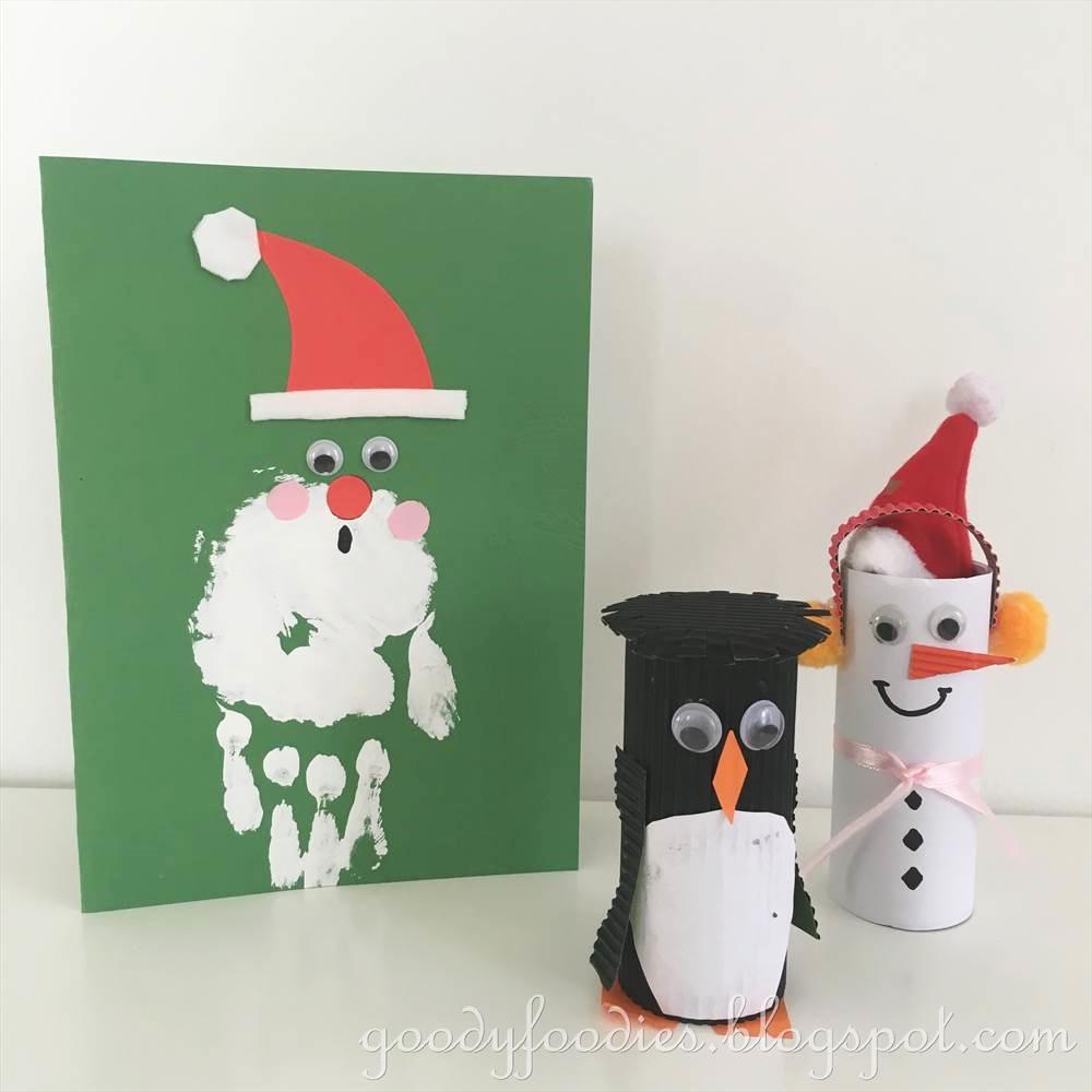 GoodyFoodies: Christmas Crafts: Handmade Santa Claus Christmas Cards