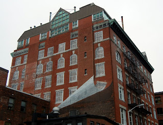 A cool building facade in Providence, Rhode Island