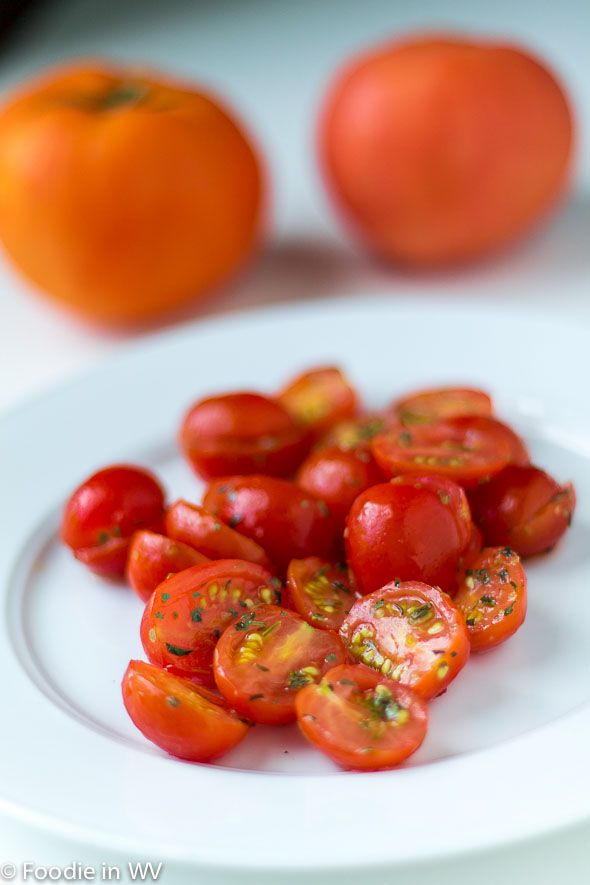 Click for recipe for Marinated Cherry Tomato Salad