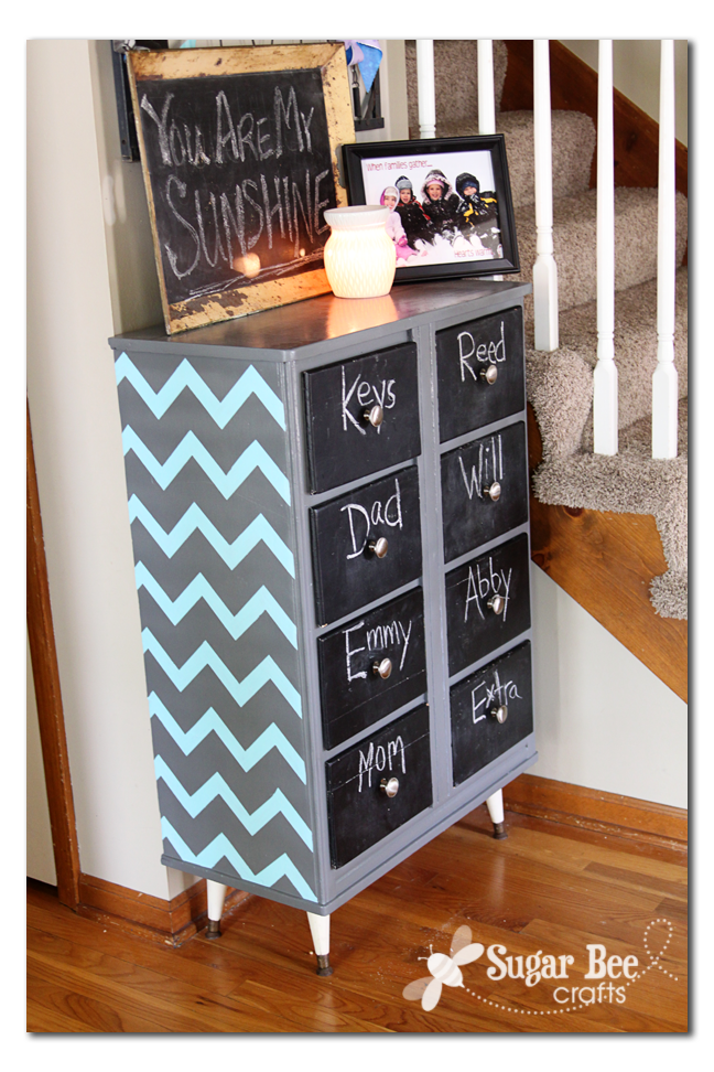 i had better love it taping off those chevrons took forever and im just noticing as im writing this that i forgot to paint the legs that ocean breeze chevron painted furniture