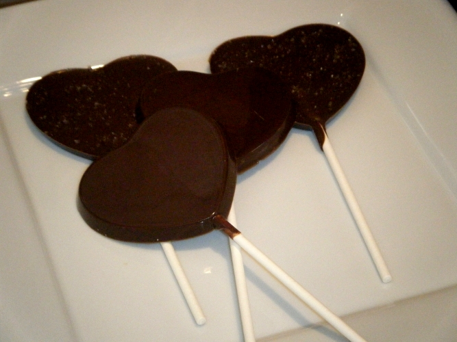 Dark Chocolate & Sea Salt lollipops