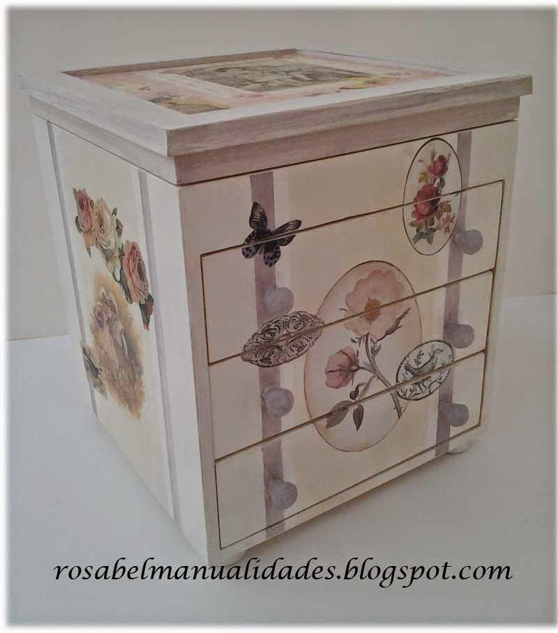 Cajas de te decoradas aprender manualidades es for Cajas para manualidades