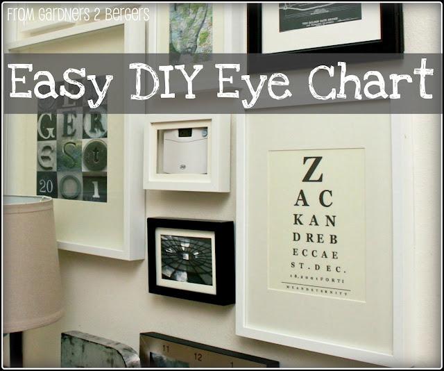 From Gardners 2 Bergers Easy Diy Eye Chart Art