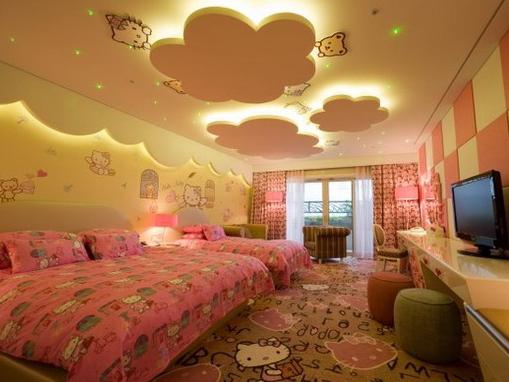 desain langit langit kamar tidur anak terbaru dan terbaik