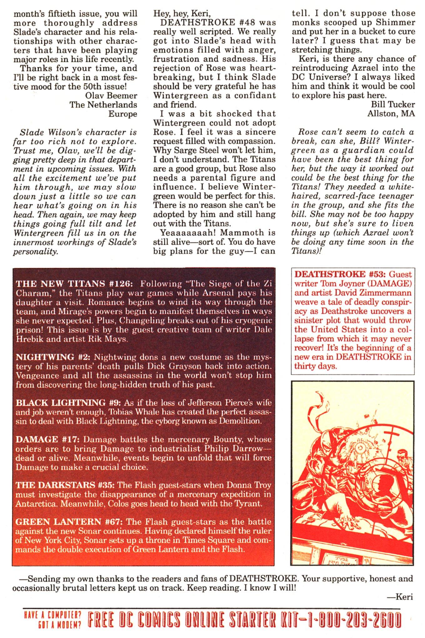Deathstroke (1991) Issue #52 #57 - English 25