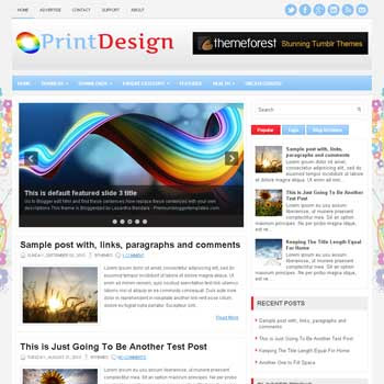 PrintDesign blog template. magazine blogger template style. magazine style template blogspot. download free 3 column footer blogspot template