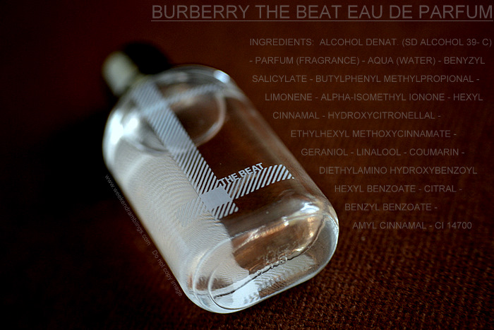 Burberry The Beat Eau de Parfum for Women Designer Fragrances Blog Reviews Perfume