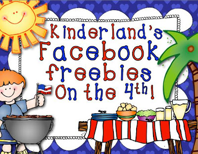 Facebook freebies for kindergarten teachers