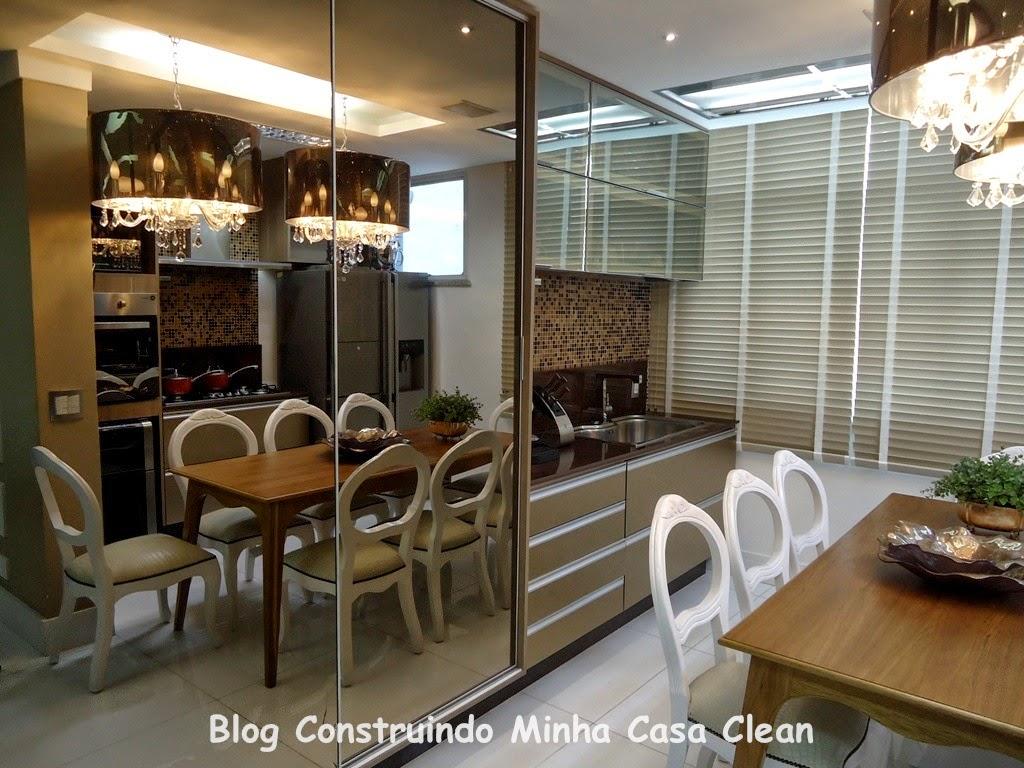 Construindo Minha Casa Clean: 25 Cozinhas Decoradas com Espelhos  #634A2C 1024 768