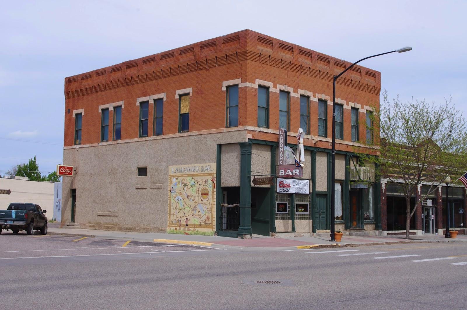 Painted Bricks: Landmark Bar, Wheatland Wyoming