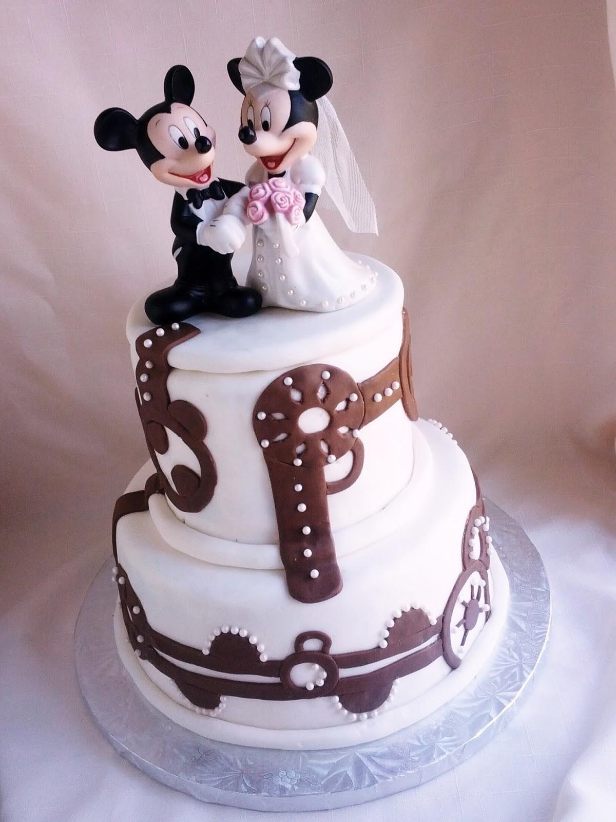 Second Generation Cake Design: Mickey & Minnie Wedding Cake
